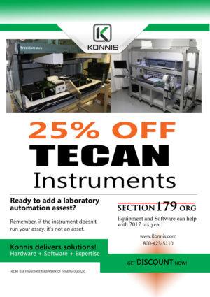 Discount on Tecan instruments